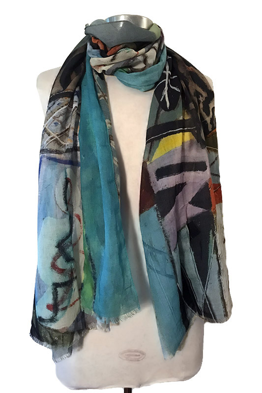 Abstract Geo scarf