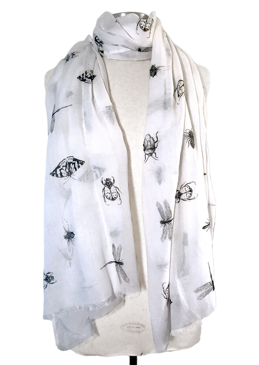 Illustrated Bugs scarf