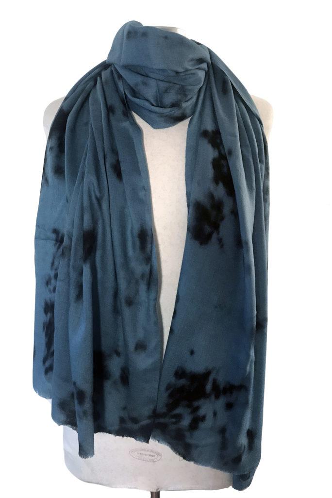 Aqua Tie Dye scarf