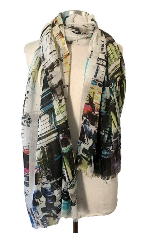 Colorful NY scarf
