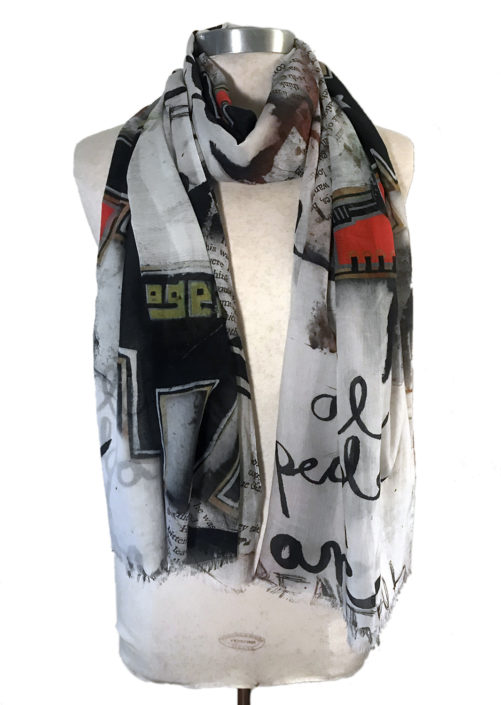 Collage scarf