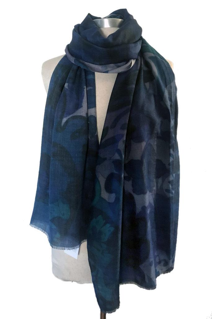 Bohemian Paisley Navy scarf