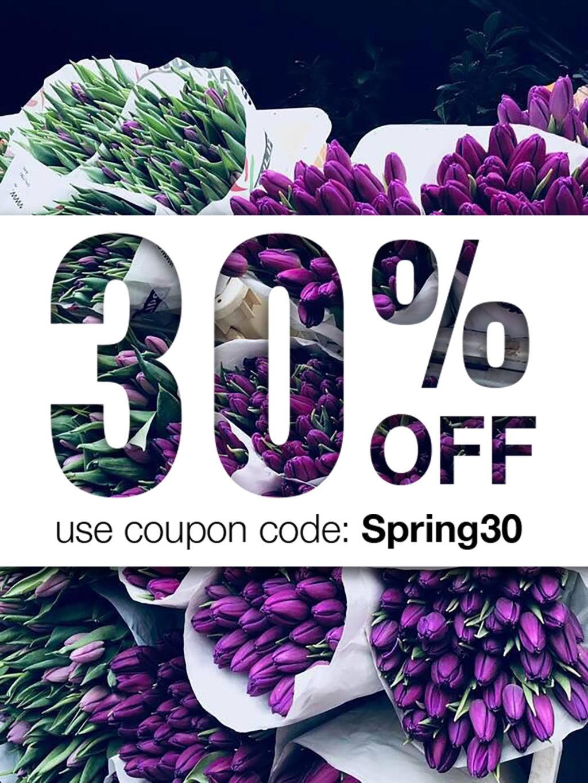 Spring sale code: Spring30